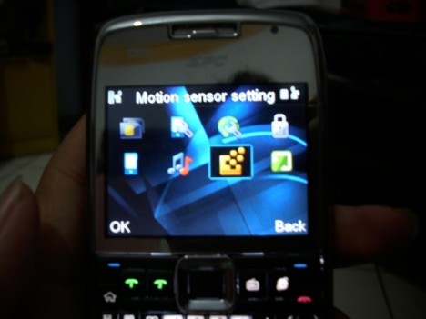 settingan motion sensor