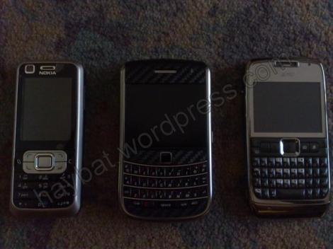 Perbandingan 3 HP datz, Nokia 6120, Blackberry Essex 9650, spc-boss 1000
